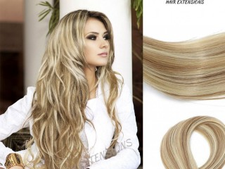 "HIGHLIGHTS/STREAK TAPE INS HAIR #12 LIGHT GOLDEN BROWN / #60 PLATINUM BLONDE 20"" - 20 PCS/QTY STRAIGHT"