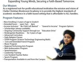 Clarke Christian Montessori Academy (CCMA)