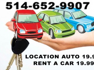 LOCATION AUTOMOBILE 19.99$ - RENT A CAR 19.99$